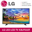 LG 43inch FULL HD | DVBT2 LED LCD TV 43LF510T | PICTURE MASTERING INDEX | 2 POLE STAND | 10W 2.0CH SPEAKER SYSTEM | VIRTUAL SURROUND | HDMI X 1 | USB X 1 | 3 YRS LG WARRANTY | READY STOCKS AVLBLE !!!