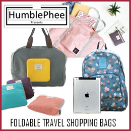 Travel Bag Backpack Pouch Organizer Foldable Luggage Ready Stocks SG Seller