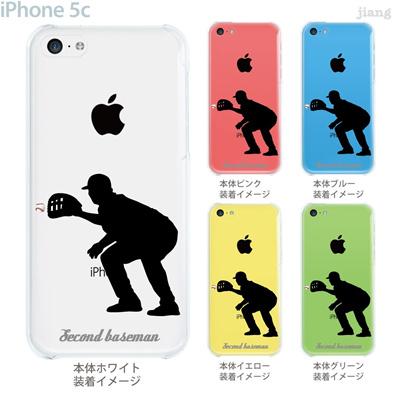 【iPhone5c】【iPhone5c ケース】【iPhone5c カバー】【ケース】【カバー】【スマホケース】【クリアケース】【クリアーアーツ】【野球】【セカンド】 06-ip5c-ca0206の画像
