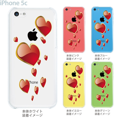 【iPhone5c】【iPhone5c ケース】【iPhone5c カバー】【ケース】【カバー】【スマホケース】【クリアケース】【クリアーアーツ】【ハート】 21-ip5c-ca0011の画像