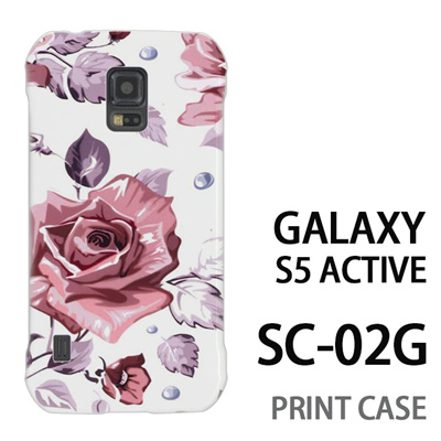 GALAXY S5 Active SC-02G 用『0618 昼のピンクバラ』特殊印刷ケース【 galaxy s5 active SC-02G sc02g SC02G galaxys5 ギャラクシー ギャラクシーs5 アクティブ docomo ケース プリント カバー スマホケース スマホカバー】の画像