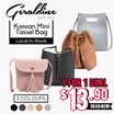 (1 for 1 Black Friday promo] Korean Mini Tassel Bag. $13.90!
