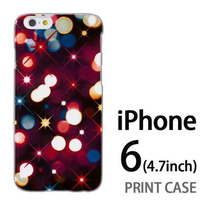 iPhone6 (4.7インチ) 用『0110 ネオン 赤』特殊印刷ケース【 iphone6 iphone アイフォン アイフォン6 au docomo softbank Apple ケース プリント カバー スマホケース スマホカバー 】の画像