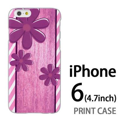 iPhone6 (4.7インチ) 用『No3 スリーフラワーズ』特殊印刷ケース【 iphone6 iphone アイフォン アイフォン6 au docomo softbank Apple ケース プリント カバー スマホケース スマホカバー 】の画像