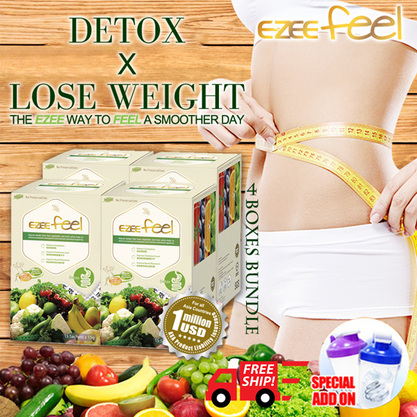 [4 Boxes] 1st SG brand•fiber detox in 8hr-weight lost-natural slimming fiber drink- EZEE Feel- Deals for only S$91.6 instead of S$0