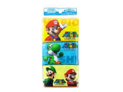 送料無料スーパーマリオ ポケットティッシュ6P×100個1個あたり103円(税抜)73556の画像