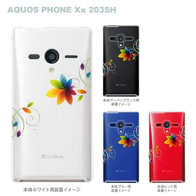 【AQUOS PHONEケース】【203SH】【Soft Bank】【カバー】【スマホケース】【クリアケース】【フラワー】 22-203sh-ca0030の画像