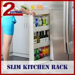 SLIM KITCHEN RACK / DIFFERENT TIER AVAIL / WITH WHEELS / SELF ASSEMBLY REQUIRED / PREMIUM PP