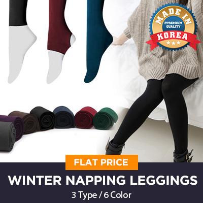 ?Oct New Update!?All Restock! Hot Sale Flat Price ?Made in Korea?3Type 6Color Full Tights Women Lady Fall Winter Napping Strech Fashion Leggings / Fleece / Women socks
