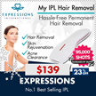 *51% OFF!!* NOW OR NEVER! MY IPL PERMANENT HAIR REMOVAL EXPRESSIONS (Skin Rejuvenation and Acne Clearance options available) | PORTABLE DEVICE CLEAR SMOOTH S