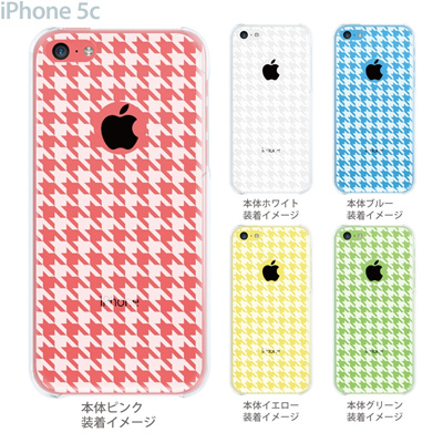 【iPhone5c】【iPhone5c ケース】【iPhone5c カバー】【ケース】【カバー】【スマホケース】【クリアケース】【チェック・ボーダー・ドット】【千鳥格子】 21-ip5c-ca0022の画像