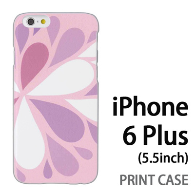 iPhone6 Plus (5.5インチ) 用『1215 コミカル雪結晶 ピンク』特殊印刷ケース【 iphone6 plus iphone アイフォン アイフォン6 プラス au docomo softbank Apple ケース プリント カバー スマホケース スマホカバー 】の画像