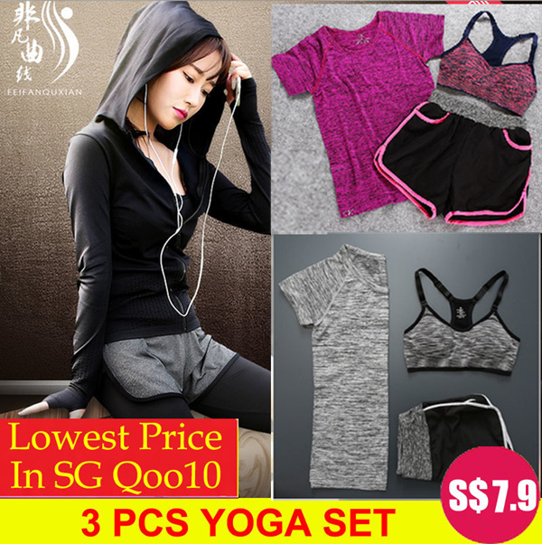 ?16/3 NEW ARRIVALS?3 pcs Yoga Set / Sports Set / Running Attire / Local Seller/ Premium Sports Yoga Deals for only S$12.9 instead of S$0