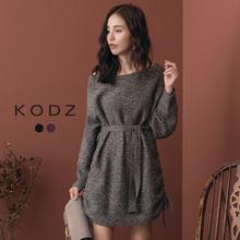 KODZ - Trendy Large Round Collar Color Mixing Knitting-182547-Winter