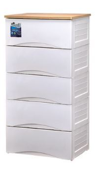 【JAPAN HOME】 EZ KEEP 4 and 5 TIER WOODEN TOP DRAWER | Home Organization | Storage