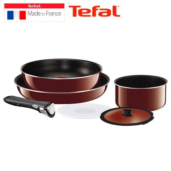 qoo10 tefal cookware set frying pan removable handle. Black Bedroom Furniture Sets. Home Design Ideas