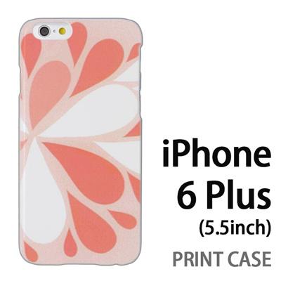iPhone6 Plus (5.5インチ) 用『1215 コミカル雪結晶 灰』特殊印刷ケース【 iphone6 plus iphone アイフォン アイフォン6 プラス au docomo softbank Apple ケース プリント カバー スマホケース スマホカバー 】の画像
