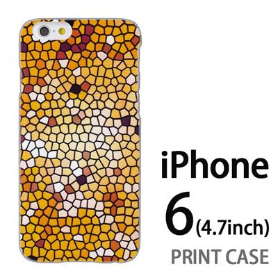 iPhone6 (4.7インチ) 用『No3 モザイクステンドグラス』特殊印刷ケース【 iphone6 iphone アイフォン アイフォン6 au docomo softbank Apple ケース プリント カバー スマホケース スマホカバー 】の画像