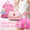 VALENTINE PINK SPECIAL -TAS WANITA - SUPER QUALITY HANDBAGS - AVAILABLE IN 17 NEW MODELS