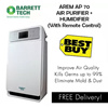 Barrett Tech AREM AP70 AIR PURIFIER (6 Stage Filtration) + HUMIDIFIER (WITH REMOTE CONTROL)