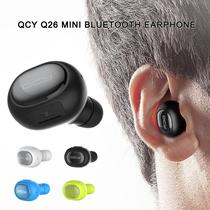 ★FAQ★Earphones★QCY Q26 Mini Bluetooth Earphone Wireless Stealth Earbuds w/ MIC -Black