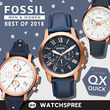 *APPLY 25% OFF COUPON* FOSSIL Leather and Stainless Steel Watches for Men and Ladies. Free Shipping!