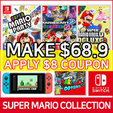 [Nintendo Switch Mario Collection] SUPER MARIO PARTY / BROS. U DELUXE / MARIOKART 8 / ODYSSEY