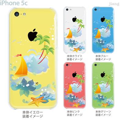 【iPhone5c】【iPhone5cケース】【iPhone5cカバー】【iPhone ケース】【クリア カバー】【スマホケース】【クリアケース】【イラスト】【クリアーアーツ】【南の島】 21-ip5c-ca0056の画像