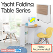 [BLMG_SG]Yacht Folding Table 1000/1500★Furniture★Home★Stable★Modern★Kitchen★DIY★Singapore★Fast★Cheap★Sale