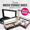 ★[MEGA SALE]5/6/8/10/12/20/24 Slots Watch Storage Box/Jewelry Box/Luxury Watch Box/Watches