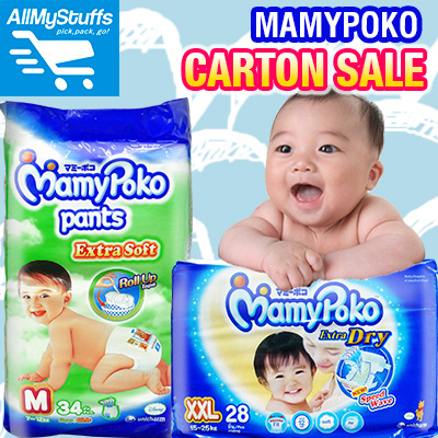 ?Mamypoko?Extra Dry Tape/Extra Dry JUMBO pack/Extra Soft Pants/Junior Night Pants/ ?Carton Sale Deals for only S$70 instead of S$0