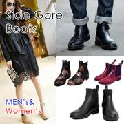 【送料無料】男性も女性も、今年は「サイドゴア」に挑戦❤今大人気の靴がレインブーツとして登場です❤女性の方は素材感、色などお選び頂けます❤今年の雨・雪対策はこの1足でOKです❤シューズ 靴 ブーツ レインブーツ ショートブーツ ロングブーツ ブーティ サイドゴア ゴム メンズ レディース ユニセックス