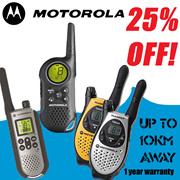 Original Motorola Walkie Talkie T5583 T6 T7 T8 wireless com 1-year warranty.