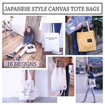 Japanese Style Canvas Tote Bag - 16 Designs
