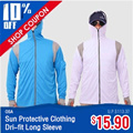 Dri-fit Long Sleeve Sun Protective Clothing Suitable for Fishing Hiking / Sun Block clothing / Many Designs and Size