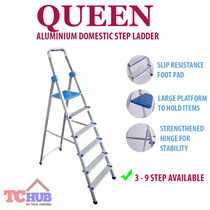 Queen Household Domestic Ladder Aluminium.Come from 3-9 StepsAnti slip resistance foot pad and large