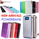 Slim/LED Power Bank / Wallet PowerBank / 12000 20000 30000 50000mAh Portable Charger Battery / Free Gifts Cable Shipping Pouch / iphone5s Note3 Hello Kitty/ Xiaomi/ Remax