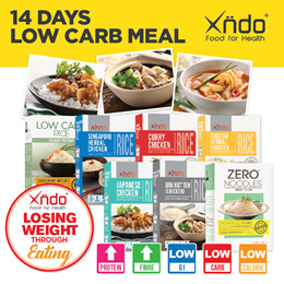 [$100 ONLY] 2 Weeks Low Carbs Meals
