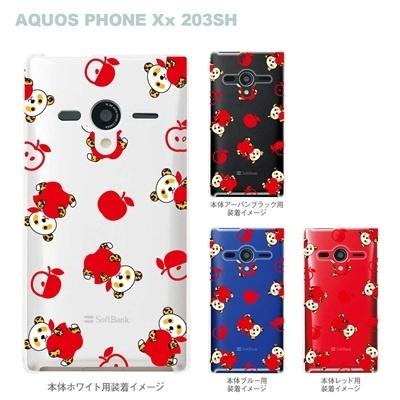 【AQUOS PHONEケース】【203SH】【Soft Bank】【カバー】【スマホケース】【クリアケース】【Clear Fashion】【アニマル】【パンダ】 22-203sh-ca0053の画像