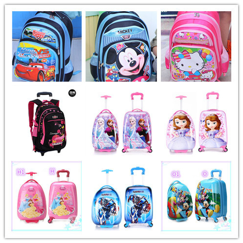 Qoo10 - ☆kids Trolley Bags ☆school bags☆cartoon luggage bags ...