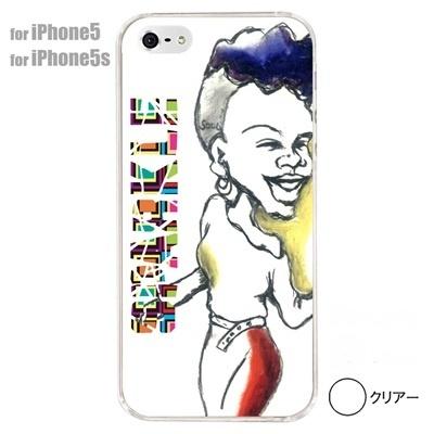【iPhone5S】【iPhone5】【iPhone5ケース】【カバー】【スマホケース】【クリアケース】【ミュージック】【イラスト】【SPARKLE】【女性】 01-ip5-s006の画像