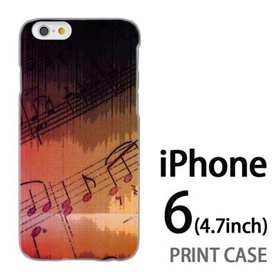 iPhone6 (4.7インチ) 用『No3 楽譜』特殊印刷ケース【 iphone6 iphone アイフォン アイフォン6 au docomo softbank Apple ケース プリント カバー スマホケース スマホカバー 】の画像