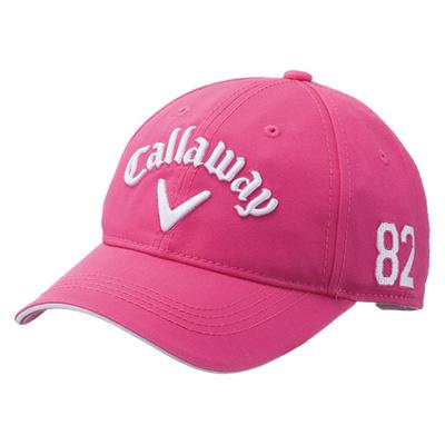 キャロウェイ (Callaway) Basic Cap Womens 15JM(ベーシックキャップウィメンズ)ピンク×ホワイト 5215417 [分類:ゴルフ 帽子・キャップ (レディース)]の画像