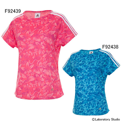 アディダス (adidas) ジュニア DANCE クライマライト カモフラワー Tシャツ DEA57 [分類:ノースリーブシャツ・タンクトップ (ジュニア)]の画像