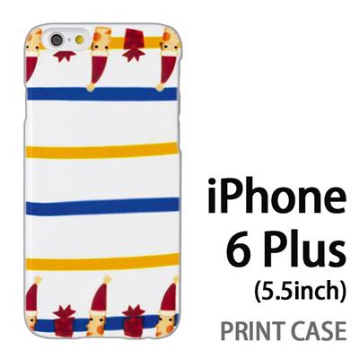 iPhone6 Plus (5.5インチ) 用『1217 サンタストライプ』特殊印刷ケース【 iphone6 plus iphone アイフォン アイフォン6 プラス au docomo softbank Apple ケース プリント カバー スマホケース スマホカバー 】の画像