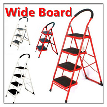 【Local stock!】【Wide Board Foldable Ladder!】Safer! Compact! Easy to use!