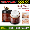 ★No.1 cream★REPAIR SNAIL CREAM 75g / anti-aging cream / skin recovery / Manufactured on August 11. 2016 / Expiry date : August 10. 2019 / Moisture Cream / Super Sale / Special Promotion