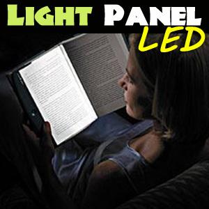 【送料無料】今話題のブックライト!卓上スタンド感覚の読書用照明(ブックライト)! 読書用照明(ブックライト) ライトウェッジ ペーパーバック 夜の機内や車内、寝室などで隣に迷惑をかけずに読書が楽しめる実に画期的なLEDパネルライトの画像