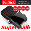 SanDisk Ultra dual 16GB / 32GB / 64GB / 128GB USB 3.0 OTG Flash Drive with micro USB connector For Android Devices