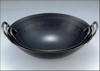 日本製japan鉄人中華鍋45cm(両手中華鍋・鉄製・業務用)104145